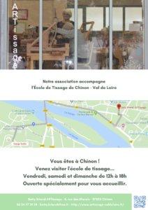 ARTissage ouvert pendant le Voyage Textile à Chinon