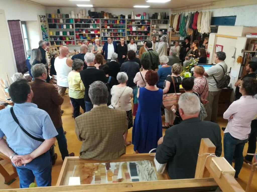 Inauguration Ecole de tissage Chinon
