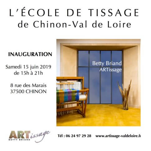 Inauguration Ecole de tissage Chinon