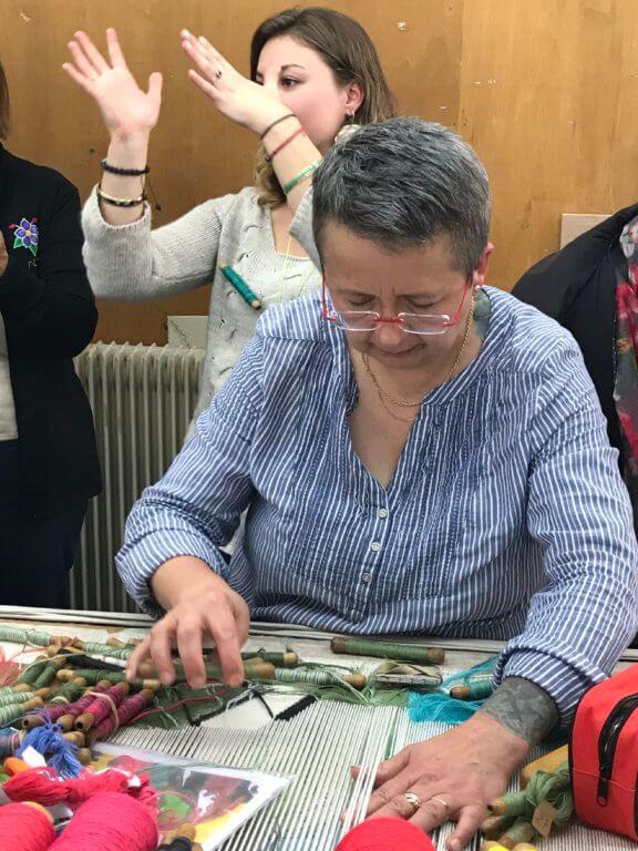 Visite de l'entreprise Pinton, la tapisserie à Felletin