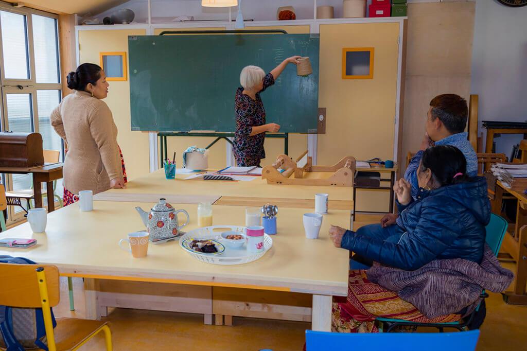 Lassa et Mame du Népal en formation à ARTissage